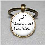 "Gilmore Girls ""Where you lead..."" Pendant Keychain"