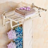 LAONA European zinc alloy white country carved base, bathroom fittings, soap box, single and double rod,Towel rack