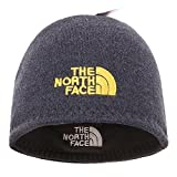 The North Face Winter Thicken Polar Fleece Knit Ski Reversible Beanie Hat (Gray, One Size)