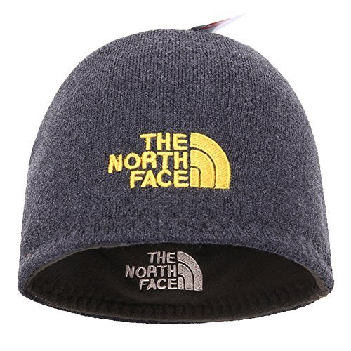 780f1a82d5518 The North Face Winter Thicken Polar Fleece Knit Ski Reversible Beanie Hat  (Gray