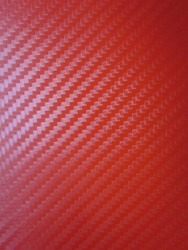 2007-2012 KIA OPTIMA RED Carbon Fiber Hood Dash Mirror Roof Wrap Sheet Vinyl Decal 48'' x 60'' 2008 2009 2010 2011 07 08 09 10 11 12