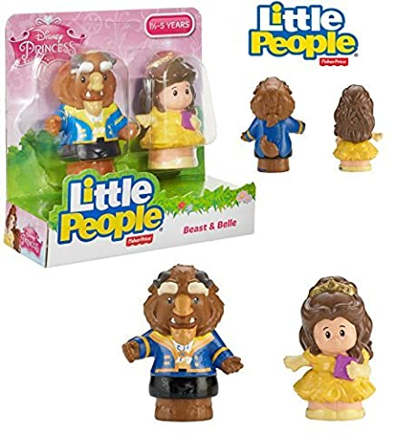 Fisher-Price Little People Disney - BELLE & BEAST - 2-Pack Action Figures (Belle And The Beast Little People)