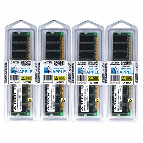 A-Tech For Apple 2GB Kit 4 x 512MB PC3200 400MHz Power Mac G5 Early 2005 Late 2004 Mid 2004 M9454LL/A A1047 M9555LL/A A1093 M9747LL/A Memory RAM by A-Tech Components (Image #2)