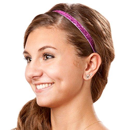 Hipsy Women's Glitter Adjustable Non-Slip Headband Mother Daughter 10pk (BFF Gift 10pk)