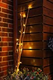 Fashionlite 36inch 16LED Dried Natural Willow Twig Branch Light Golden Branch Warm White Light Festival Light for Party Garden Home Decoration