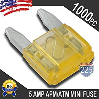5 Pack 5A Mini Blade Style Fuses APM//ATM 32V Short Circuit Protection Car Fuse