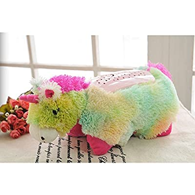 Cuddly Soft Animal Star Light Projector / Pillow Children's Bedside Lamp - Projects Night Stars