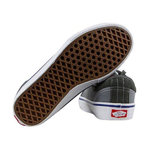 Bestelwagens Chukka Low Pro Wit Wit Skateboardschoenen Gunmetal