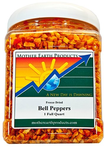 Mother Earth Products Freeze Dried Red Bell Peppers, Net Wt 4oz (Pepper Fruit)