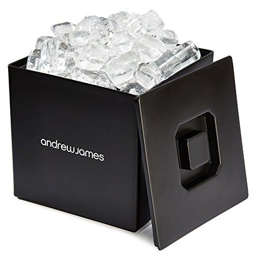 Andrew James - Quadratischer Eiswürfelbehälter Mit Deckel /Eiskühler/ Eiskübel - 3L - Ideal Für Parties, Bars Und Pubs