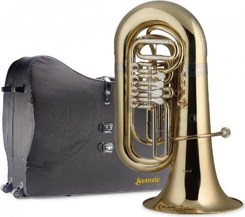 Levante LV-BT5705 Bb Tuba with Soft Case - 4 Rotary Valves