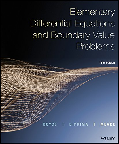 Elementary Differential Equations and Boundary Value Problems, 11th Edition