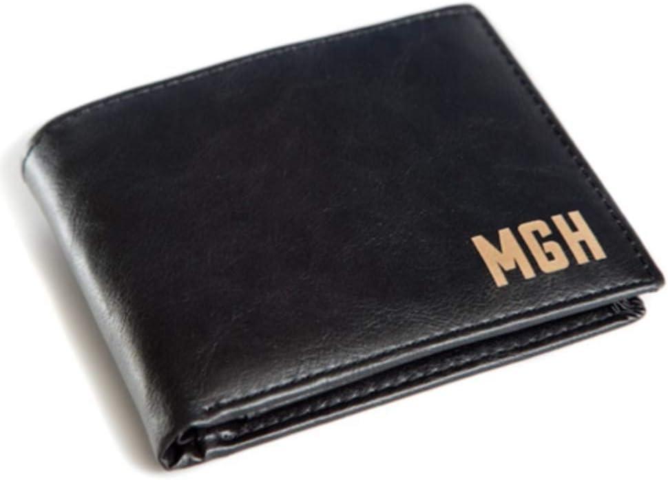 Amazon.com: Billetera de cuero para hombre - Grabado láser ...