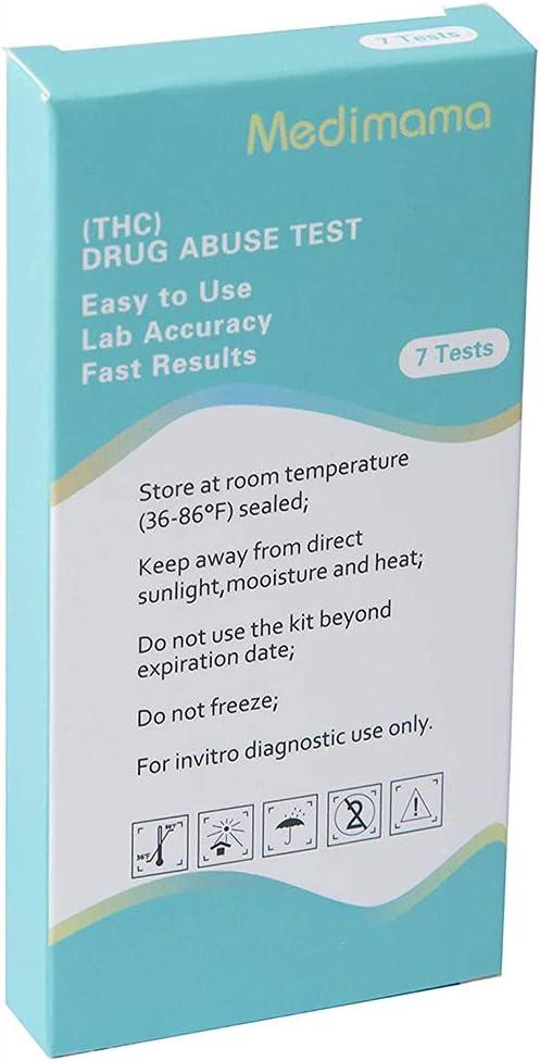 THC Test Marijuana Drug Test Strips THC Urine Testing Drug Test Kit (7 Pack)