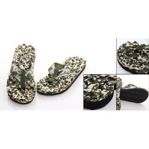 Pantofole - TOOGOO(R) Mens punta rotonda Camouflage Pattern Beach scarpe infradito