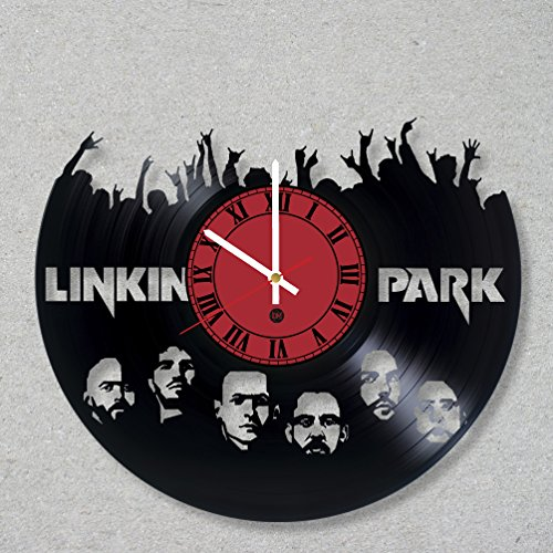 Vinyl Record Wall Clock Linkin Park Music Rock Bennington Numb Hybrid Theory Chester decor unique gift ideas for friends him her boys girls World Art Design