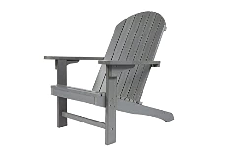 Sedie Da Giardino In Plastica : Adirondack sedia da giardino in plastica xxl grigio