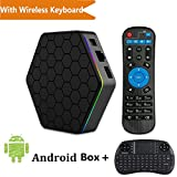 With Wireless Keyboard - TopYart T95Z Plus S912 Android 7.1 2GB/16GB Octa-Core 2.4G/5G Dual Wifi 1000M LAN Bluetooth 4.0 H.265 4k Smart Set Top box + Wireless Keyboard