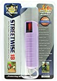 Streetwise Security Products Lab Certified Streetwise 18 Pepper Spray, 1/2-Ounce Hard Case, Lavender