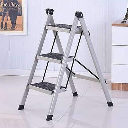ZM&Taburete Escabel Escalera De Pie Plegable De Metal Escalera De Escalera Multifunción Familiar, Simple Y Elegante, Interior Y Exterior Escalera Ascendente Pedal (Color : Gray): Amazon.es: Hogar