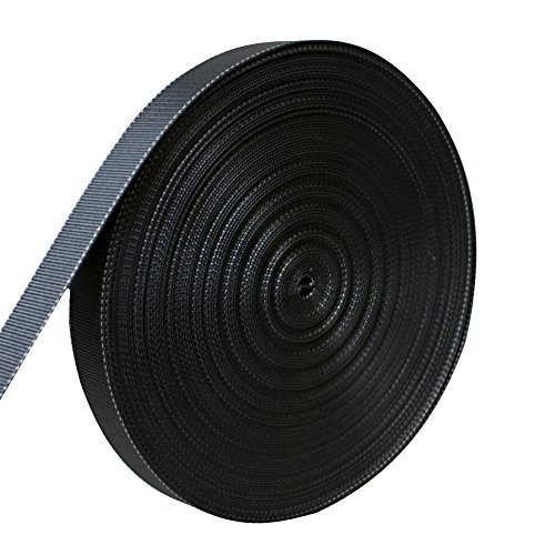 AMP 5000lbs Rated Heavy Duty Mil Spec Military Grade Nylon Fastening Webbing Strap 1.75'' Wide 50 Yards Black/White by AMP