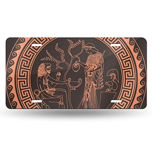 NGHFJSUY Athena and Heracles License Plate Decorative Metal Card Personality 6