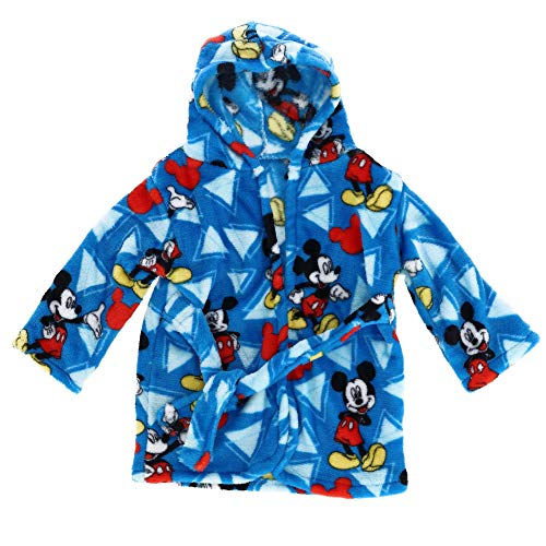 Disney Mickey Mouse Flannel Fleece Robe, Blue ()