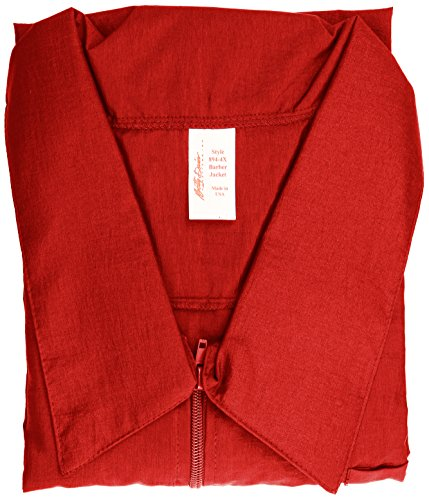 Betty Dain Nylon Barber Jacket, Red (Crinkle Nylon Jacket)
