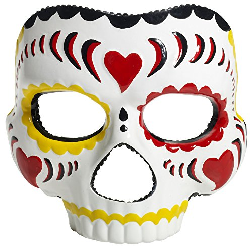 Forum Novelties Women's Day Of The Dead Female Mask, Multi, One Size (Day Of The Dead Mask For Sale)