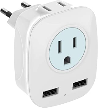 European 4 in 1 Outlet Power Travel Plug Adapter (Type C)
