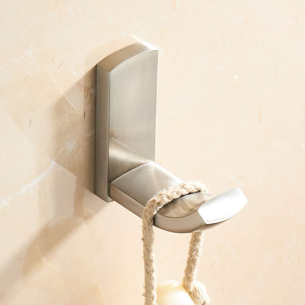 CASEWIND Wand Badezimmer Badetuchhalter Badetuchregal alle Messing Konstruktion Geb/ürstet Finished Rostfrei Wandmontag zum Bohren Silbern