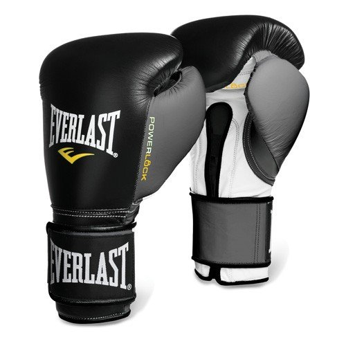 Image of Boxing Everlast 2200755 Powerlock Training Gloves (Hook & Loop) Black/Grey 16 0Z