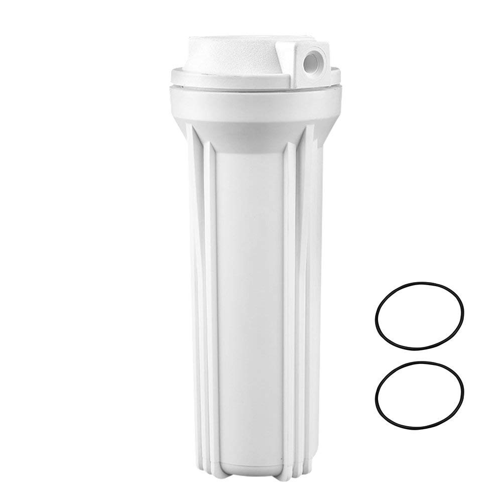 """Geekpure Filter Housing 10"""" for Reverse Osmosis System -1/4 Inch Inlet/Outlet-for 2.5 Inch x 10 Inch Fitlers"""