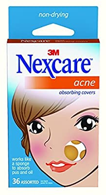 3M Nexcare Acne Absorbing Cover, Two Sizes, 36 Count