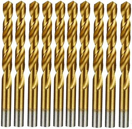 3.3mm HSS M2 Fully Ground Jobber Drill Bit Tin Titanium Nitride Coated DIN338 Standard 3.3mm x 65mm