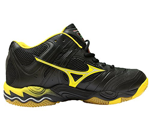 Mizuno Wave Blocker Mid - Chaussures De Volley-ball - Noir / Jaune / Rouge (45)