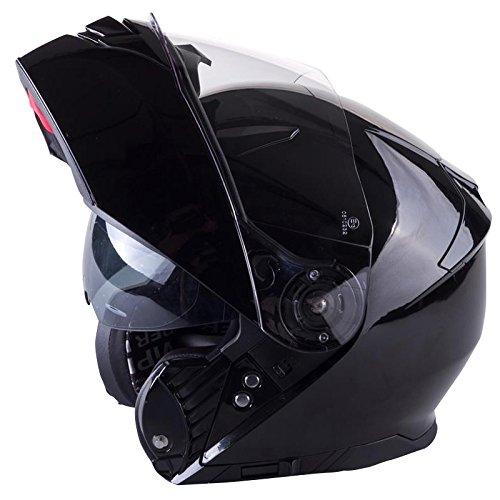 Viper RSV445 Flip up Front Motorbike Motorcycle Helmet Pinlock Ready Black XL (61-62cm) Touch Global Ltd