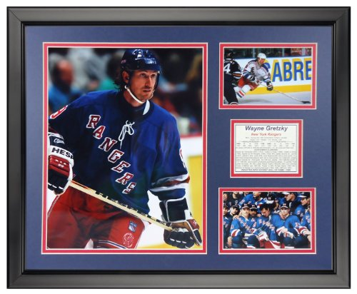 Legends Never Die Wayne Gretzky - New York Rangers Framed Photo Collage, 16