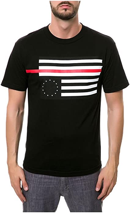 Black Scale Mens The Rebel Red Flag Graphic T-Shirt