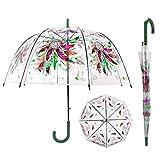 iMucci 40 Inch Dream Catcher Bubble Umbrella - Clear Stick Umbrella Birdcage Dome See ThroughTransparent POE Umbrella Windproof Automatic Open Umbrella for Girls Women (BLUE)