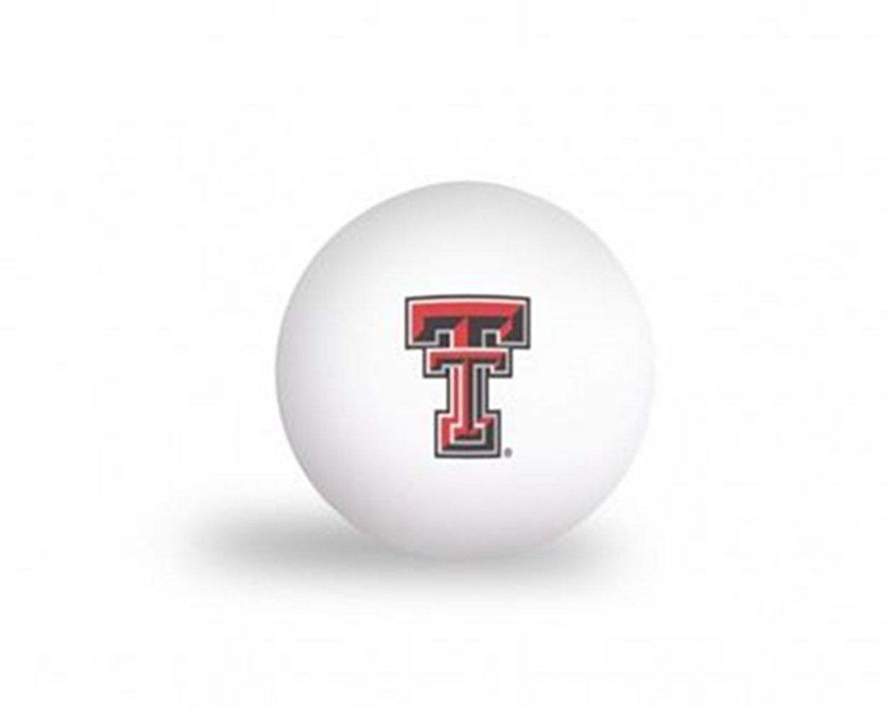 NCAAテキサスTechレッドRaiders 6パックPing Pong Balls   B01JJB20XK