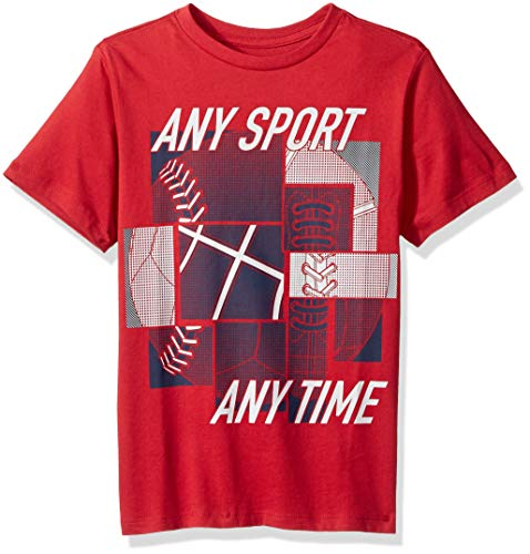 Tee Sleeve Soccer Graphic Short (The Children's Place Baby Boys Novelty Short Sleeve Graphic Tees, Maple, XS (4))