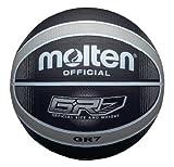 Molten Premium 12 Panel Design Rubber Basketball, Black/Silver, Official Size 7'