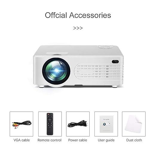 Proyector, 2200 lúmenes HD Video proyector Home Cinema LCD Movie ...