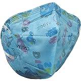 Máscaras KN95 Azul de Dinossauro Infantil Criança - Kit de 10, 20, 30, 40, 50, 100 Unidades - FPP2 PFF2 - Filtragem > 95% - E