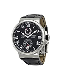 Ulysse Nardin Marine Chronometer Black Dial Automatic Mens Watch 1183-126-42