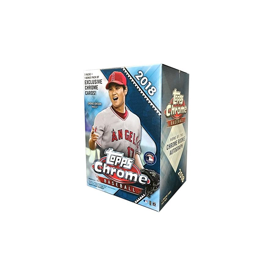 Topps 2018 Chrome Baseball Mass Value Box (8 Packs/Box)
