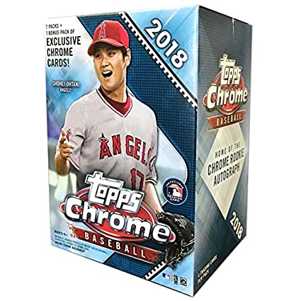 Topps 2018 Chrome Baseball Mass Value Box 8 Packsbox