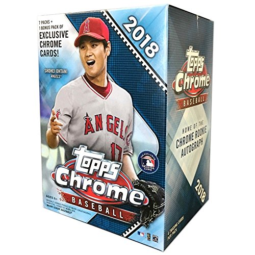 2018 Topps Baseball Card - Topps 2018 Chrome Baseball Mass Value Box (8 Packs/Box)