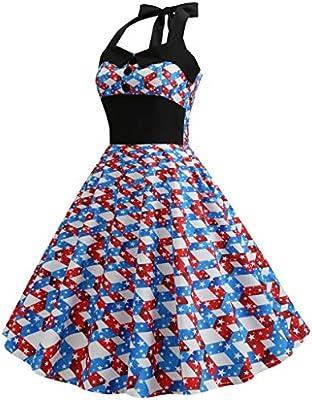 Amazon.com: GUTTEAR - Vestido de Hepburn para mujer, diseño ...